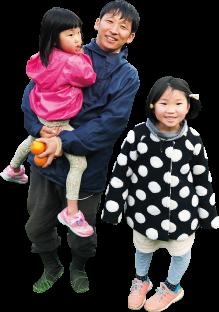 奥谷篤巳さん、愛子さん、楓子さん