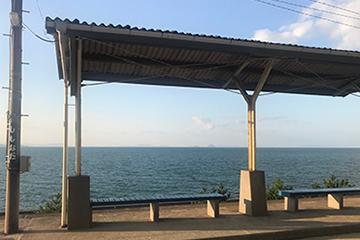 日本一海に近い駅 下灘駅